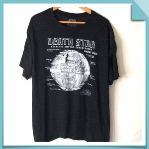 Star Wars Death Star Galactic Empire Eng. Tee S-XL